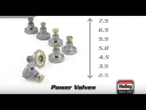 Holley carburetor Single-Stage Power Valve Standard Flow 5.5 in Hg for tuning