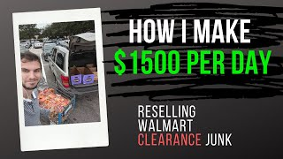 Behind the scenes Walmart sourcing video - How I make $1500 per day reselling clearance junk!