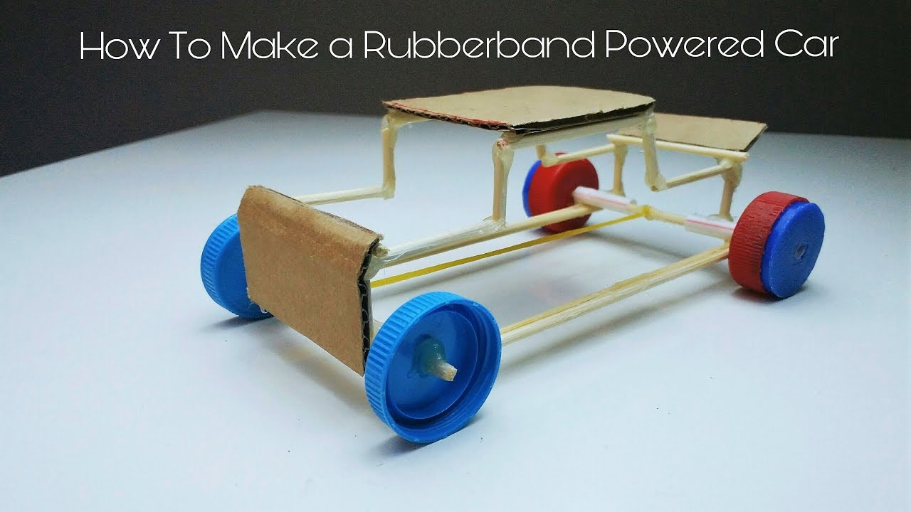 how to build a rubber band powered car