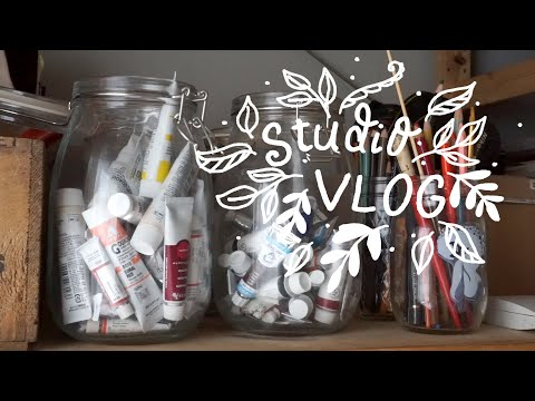 Studio Vlog 004 ◆ New Stickers, Sketching, & Making A Wine Label