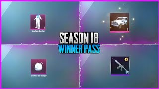 PUBG MOBILE LITE || SEASON 18 WINNER PASS || ALL CONFIRM REWARDS || SEASON 18 OUT || RELEASE DATE