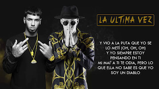 La Última Vez - Anuel AA ft. Bad Bunny | Video Letra 2017