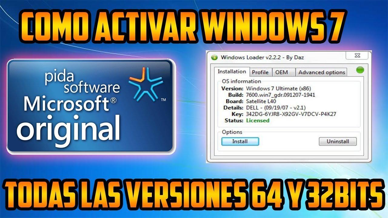 clave para activar windows 7 ultimate 32 bits original gratis