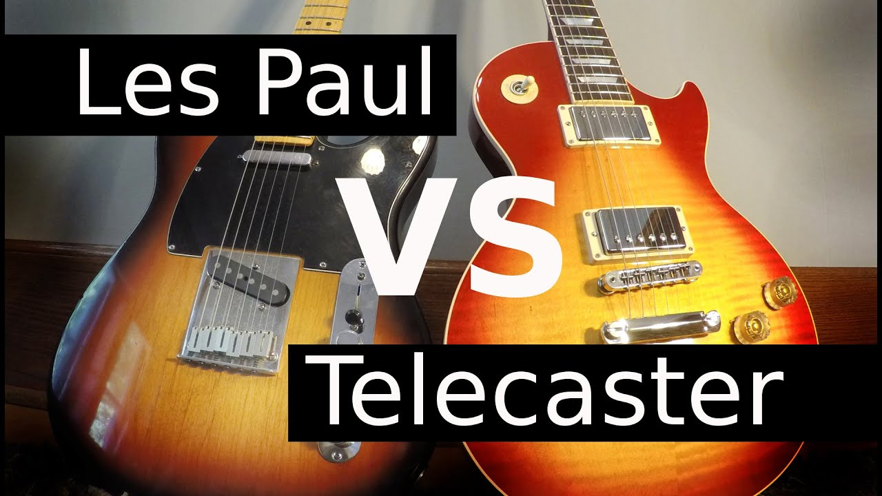les paul vs telecaster guitar tone comparison youtube. Black Bedroom Furniture Sets. Home Design Ideas