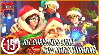 ALL CHRISTMAS SKINS & Unboxing WINTER WONDERLAND Loot Boxes in Overwatch! #15