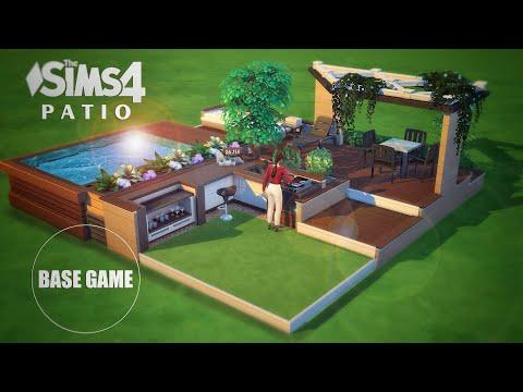 Patio & Backyard Ideas with SPLIT PLATFORMS | Base Game | No CC | THE SIMS 4 || Tutorial
