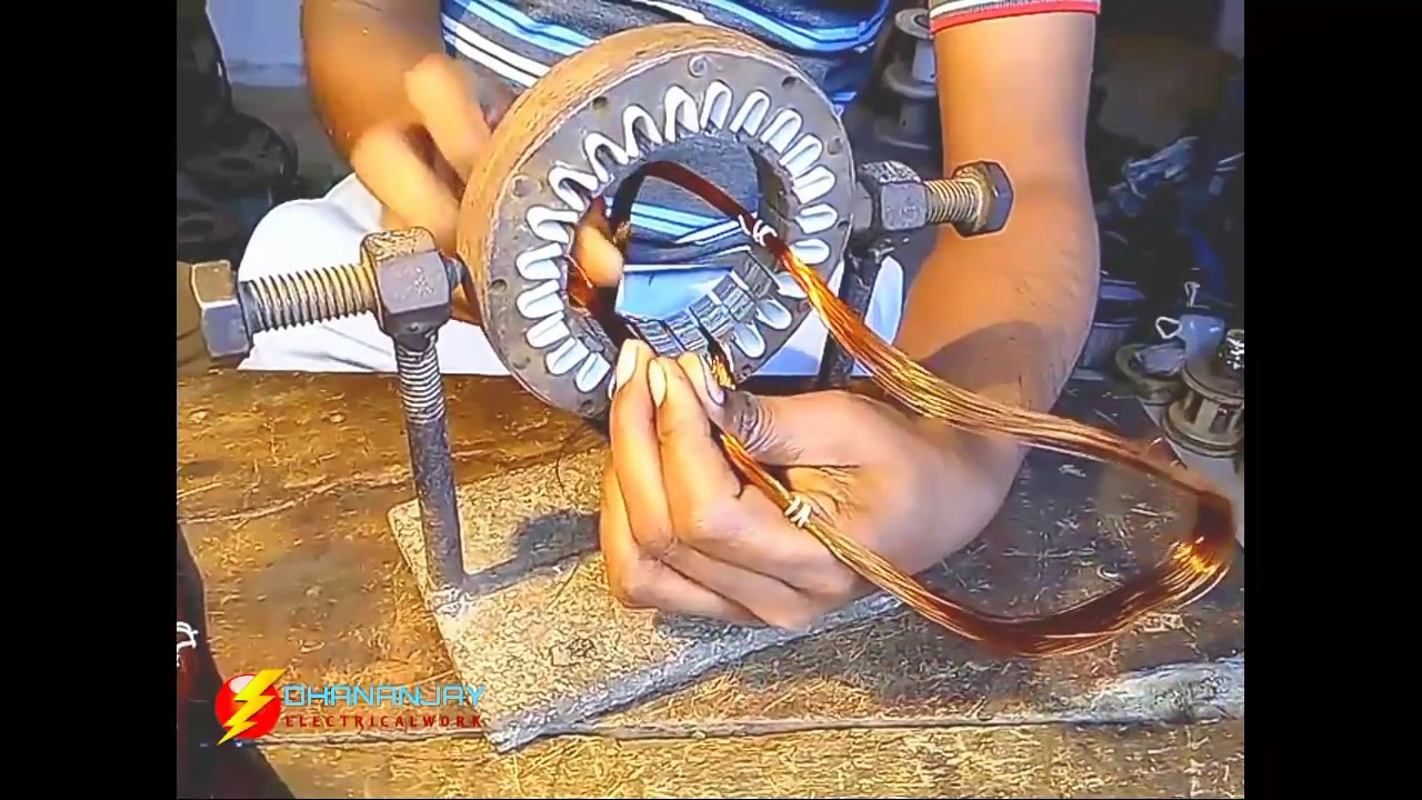How to rewind cooler motor stator (part ~ 1) - YouTube