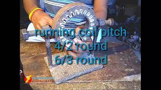 How to rewind cooler motor stator (part ~ 1)