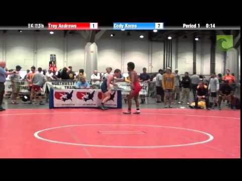 Men 55 KG / 121.25 lbs - Trey Andrews vs. Cody Karns
