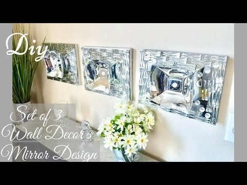 Diy Set of 3 Wall Decor Using Dollar Tree Items  Quick and Easy Wall Decorating idea!
