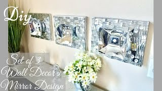 Diy Set of 3 Wall Decor Using Dollar Tree Items| Quick and Easy Wall Decorating idea!