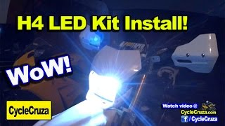 ULTRA BRIGHT Motorcycle LED Headlight Kit INSTALL on WR250R - Build Update