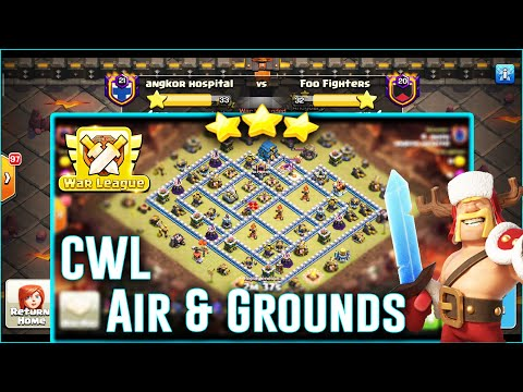 Clan War Leagues Attack - Dragon Bat & Grounds Strategy Hit TH12 CWL ( Clash of Clans )