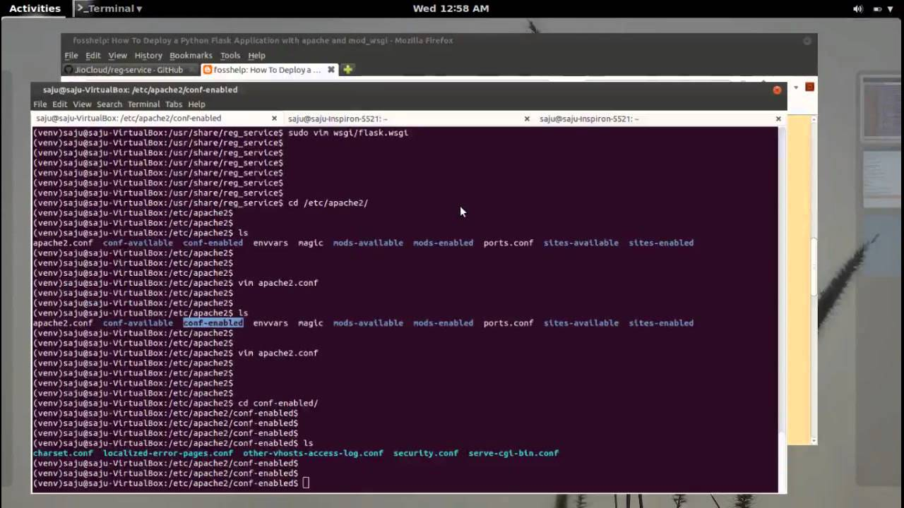 How To Deploy a Python Flask Application with Apache and mod_wsgi - YouTube