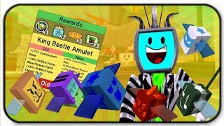 Attack Of The Killer Bees! New King Beetle Amulet - Roblox Bee Swarm Simulator
