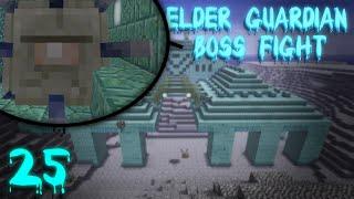 Elder Guardians/Ocean Monument Draining! | Vanilla 1.8 Minecraft Survival Ep. 25