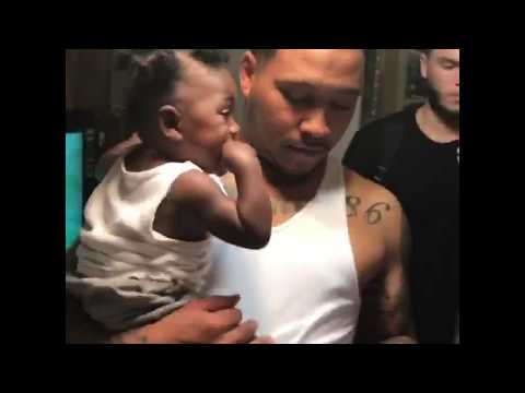 NBA Youngboy reaction when he first sees his sons 2017