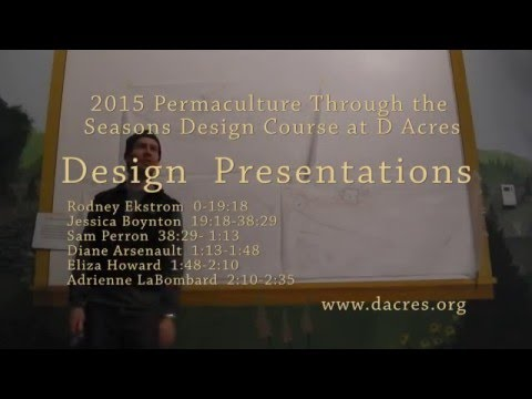 2015 Permaculture Through the Seasons Design course presentations