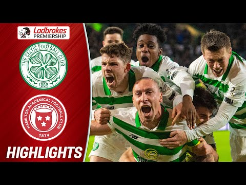Celtic 2-1 Hamilton | Scott Brown's Last Minute Goal Seals Celtic's Victory | Ladbrokes Premiership