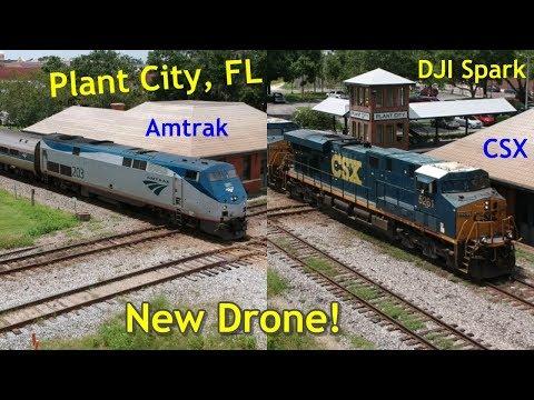 New DJI Spark Drone Railfanning in Plant City, FL!