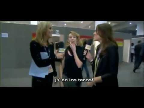 Nicole Appleton et Mélanie Blatt interview with Kylie Minogue Brit Awards