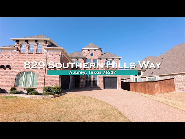 829 Southern Hills Way, Aubrey, TX 76227
