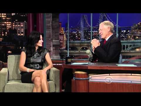 Courteney Cox onThe Late  with David Letterman 20091027