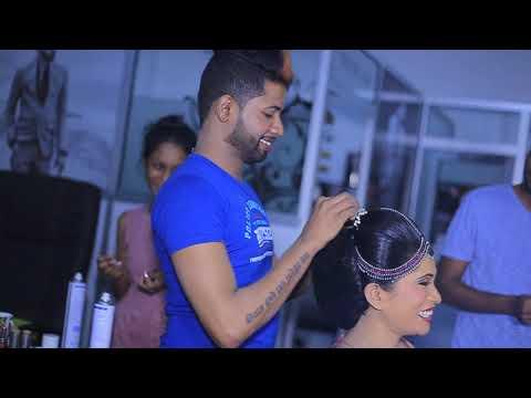 Dressing by salon Tharu kandiyan bride