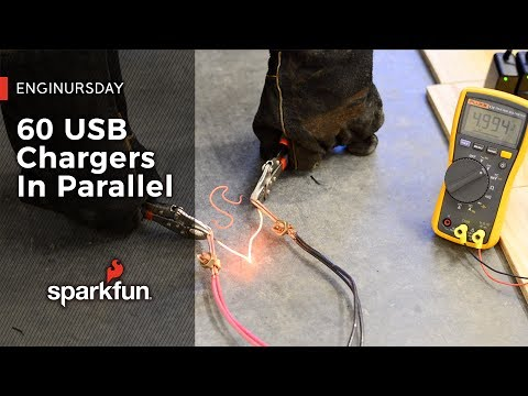 Enginursday: 60 USB Chargers in Parallel