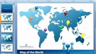 How to Customize World Map in PowerPoint
