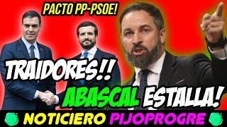ABASCAL EXPLOTA ante EL PACTO de PP Y PSOE, VOX RECURRE la LEY RHODES y PODEMOS QUIERE MÁS MENITAS!😱