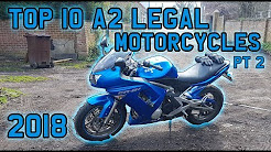 TOP 10 A2 LICENCE LEGAL MOTORCYCLES 2018 UK Part 2