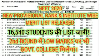 AIQ 16540 STUDENT'S NEW RANK WISE & INSTITUTE WISE MERIT LIST RELEASED | 2nd ROUND छात्रों को फ़ायदा!