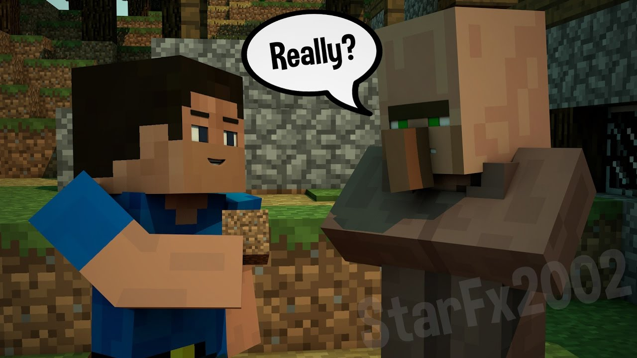 minecraft wallpaper speed render a guy with villager youtube