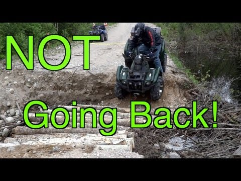 ATV's Encounter A Huge Washout  We Are NOT Turning Around!  June 2 & 22 2013