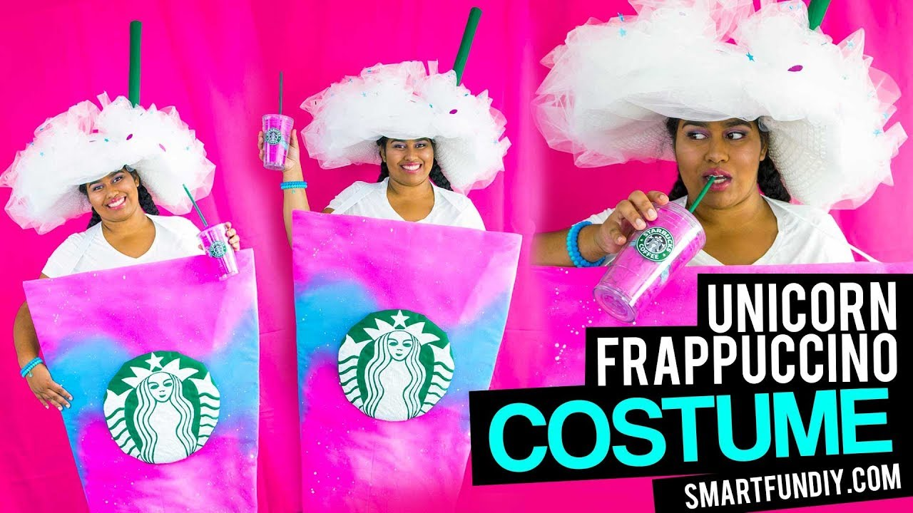 Diy unicorn frappuccino costume no sewing do it yourself diy unicorn frappuccino costume no sewing do it yourself starbucks unicorn costume idea solutioingenieria Image collections