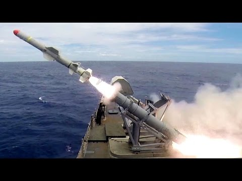 Littoral Combat Ship – Harpoon Missile Live Fire