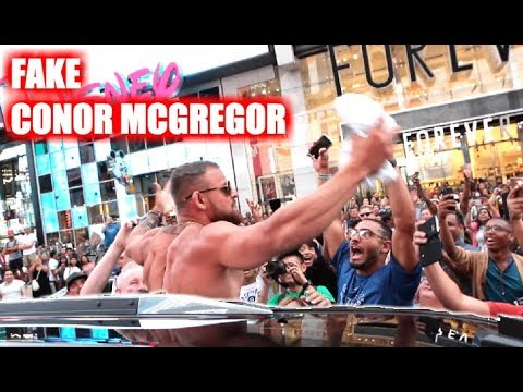 Fake Conor McGregor Pranks New York City!
