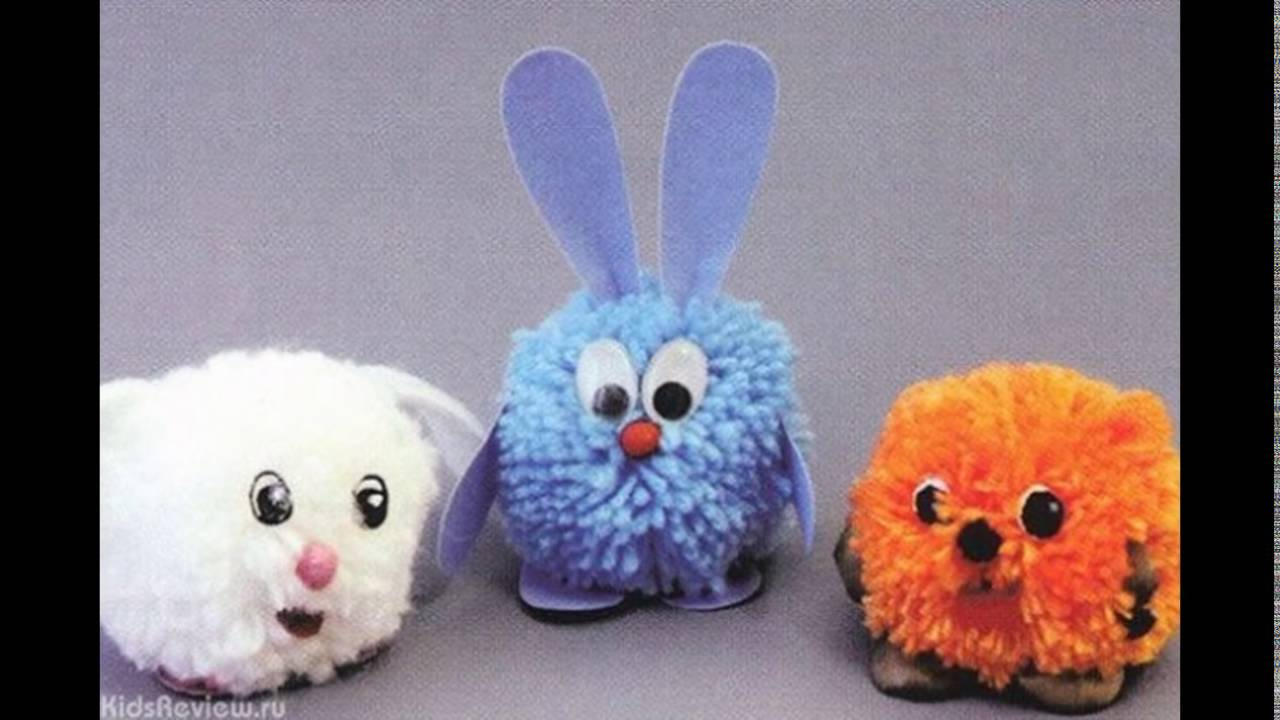 фото игрушки из помпонов