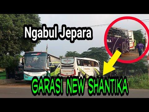 Pemberangkatan bus dari garasi bus new shantika ngabul jepara