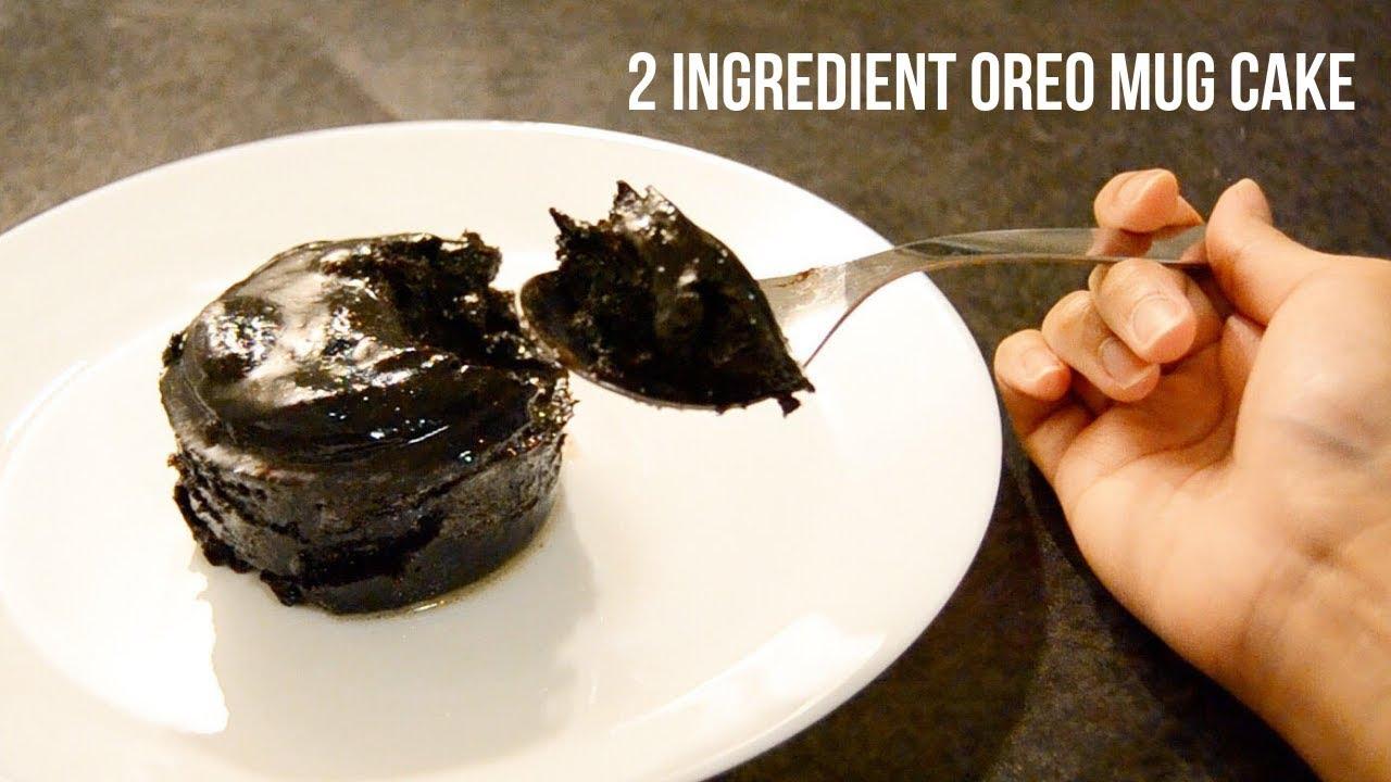 easy two ingredient oreo mug cake recipe no oven