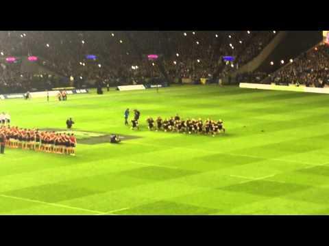 The Haka. Scotland v New Zealand