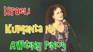 Israeli Kumanta ng Awiting Pinoy -