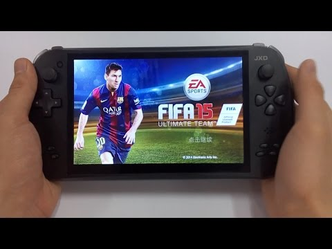 Awesome! JXD S7800b Can Play FIFA 15 Association Football Simulation Video Game Mission 1