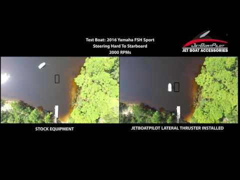JetBoatPilot Single Engine Lateral Thruster VS Stock Yamaha Reverse