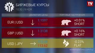InstaForex tv news: Биржевые курсы 10:30 (09.11.2017)
