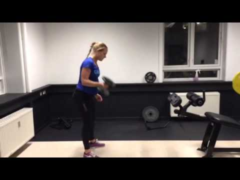 One-arm DB clean and jerk