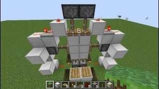 """Compact 3x2 """"Epic"""" Piston Door (Tutorial) Minecraft 1.2.5"""