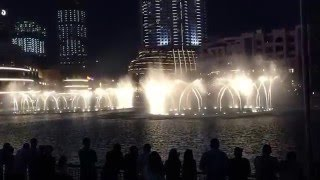Dubai Fountain and Burj Khalifa Best Music and Songs on  December 2015
