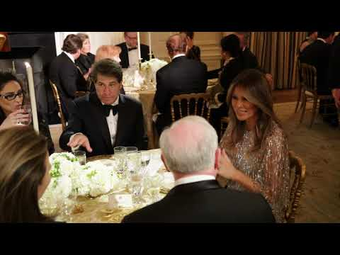 The First Lady Participates in a White House Historical Association Dinner